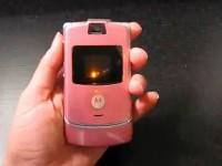 Видео обзор Motorola RAZR V3 Pink